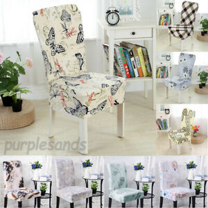Details About Stretch Dining Chair Covers Fl Slip Wedding Home Decor