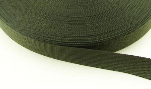 vert armée couronne de 5 Mètres 25 mm KAKI sangle à sac // sanglon larg