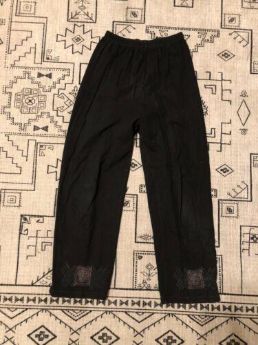 BLUE FISH - Black Tunic Pants - Size 1 (M) - Organ