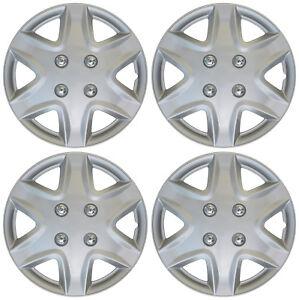 "Set of 4 Hub Cap ABS Silver 14"" Inch Rim Wheel Cover Replica Hubcaps Covers Caps"
