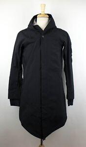 NWT-11-BY-BORIS-BIDJAN-SABERI-Black-Zip-Up-Reflective-Tape-Raincoat-Size-S-1370