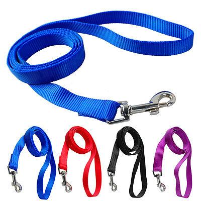 4pcs 4 Feet Soft Nylon Dog Leash Lead for Daily Walking Black Red Purple Blue