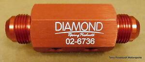 Diamond-Racing-02-6736-Dry-Sump-Manifold-Fitting-10AN-Male-2-1-8-034-NPT-Female