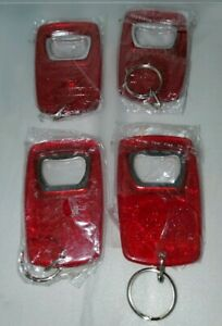 Lot of 4 - Michelob Ultra Amber Beer Red Acryclic Bottle Opener Key Chain
