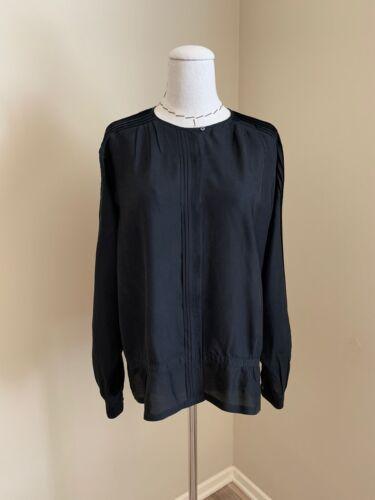 Dries Van Noten Shirt Top Pintuck Blouse Black Si… - image 1