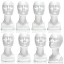 Mn 434 8 Pcs Female Styrofoam Mannequin Head Bust With Partial Shoulder