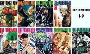 Details about One Punch Man Series English Manga Collection Books 1-9 BRAND  NEW!