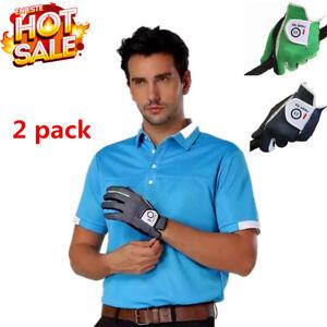 Men-039-s-Golf-Gloves-2-Pack-WeatherSof-Anti-Slip-No-Sweat-Left-Right-Hand-LH-RH-US