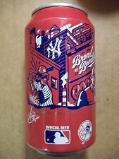 NEW 12 oz. Budweiser Beer Can  New York Yankees 2017 MLB   666210  Bronx Bombers