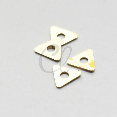 100pcs Raw Brass Triangle Spacer - 7mm (1918C-T-295)