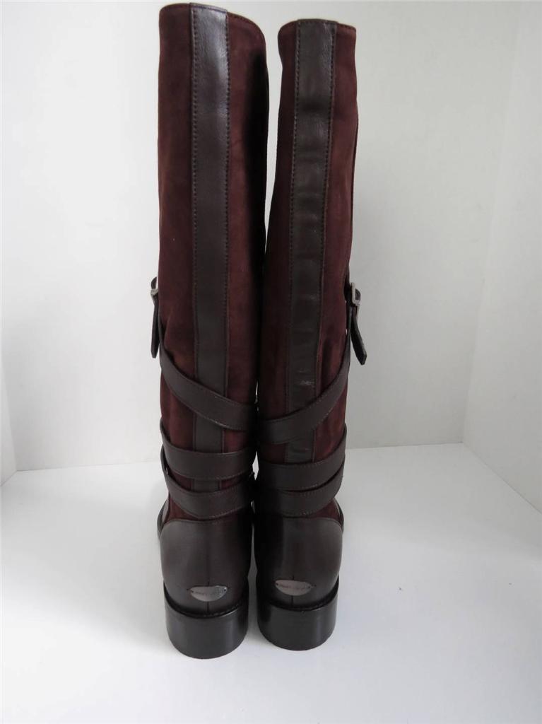 NWOB Jimmy Jimmy Jimmy Choo braun Leather Suede Riding Stiefel schuhe Größe 38.5 6f887a