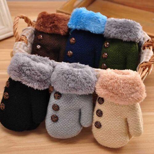 Winter Warme Baby Kinder Jungen Mädchen Babyhandschuhe Fäustlinge Mehrfarbig wcl