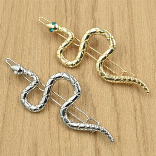 Vintage Crystal Snake Hair Clip Fashion Alloy Pin Hair Accessory Women Jewelry