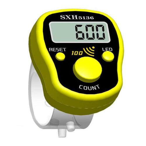 Contador De Dedo Mini puntada marcador Fila LCD Pantalla Digital Eléctrico con LED