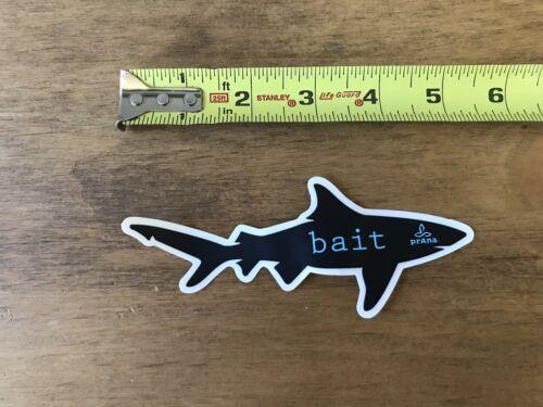 "Prana Shark Bait Black Blue  Sticker//Decal Outdoor Clothing Approx 5"" New"
