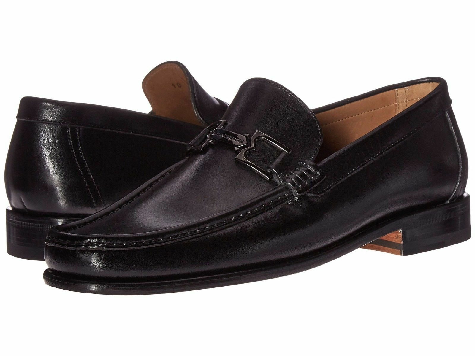 Bcouriro Magli Hommes Bigolo Cuir Noir Embout Handmade Italien Mocassin   chaussure