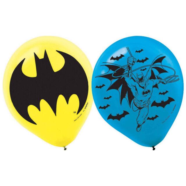 BATMAN Pack of 6 Party Balloons Kids Birthday Decorations Helium Superhero