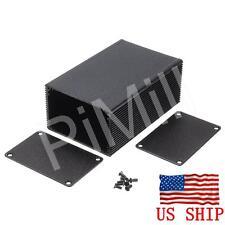 Aluminum Project Box Enclosure Case Electronic Diy 100x66x43mm Black Us Stock