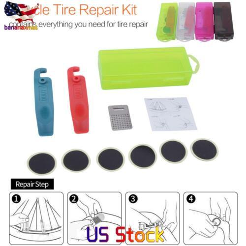 Mountain Bike  Repair Tools Flat Tire Repair Rubber Patch Lever Set Tire Fix Kit