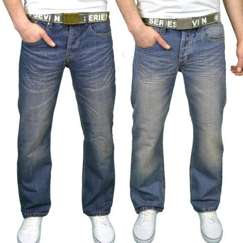 BNWT Seven Series Mens Designer Branded Regular Fit Bootcut Jeans