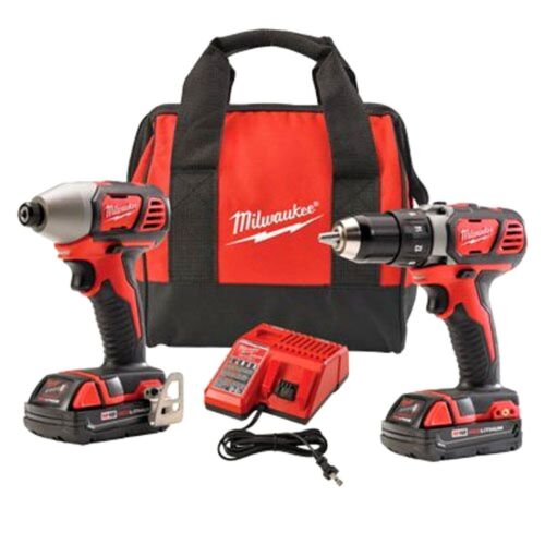 Milwaukee Lightweight 18-Volt Cordless Compact Drill and Impact Driver Combo Kit