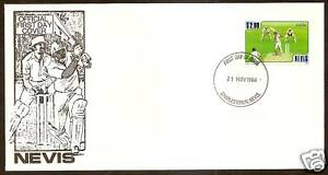 NEVIS-1986-CRICKET-1v-Single-Cricket-Official-FIRST-DAY-COVER-No-1