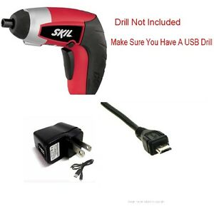 10Ft-USB-Charger-SET-For-Skil-iXO-Cordless-Screwdriver-Skill-LXO-4V