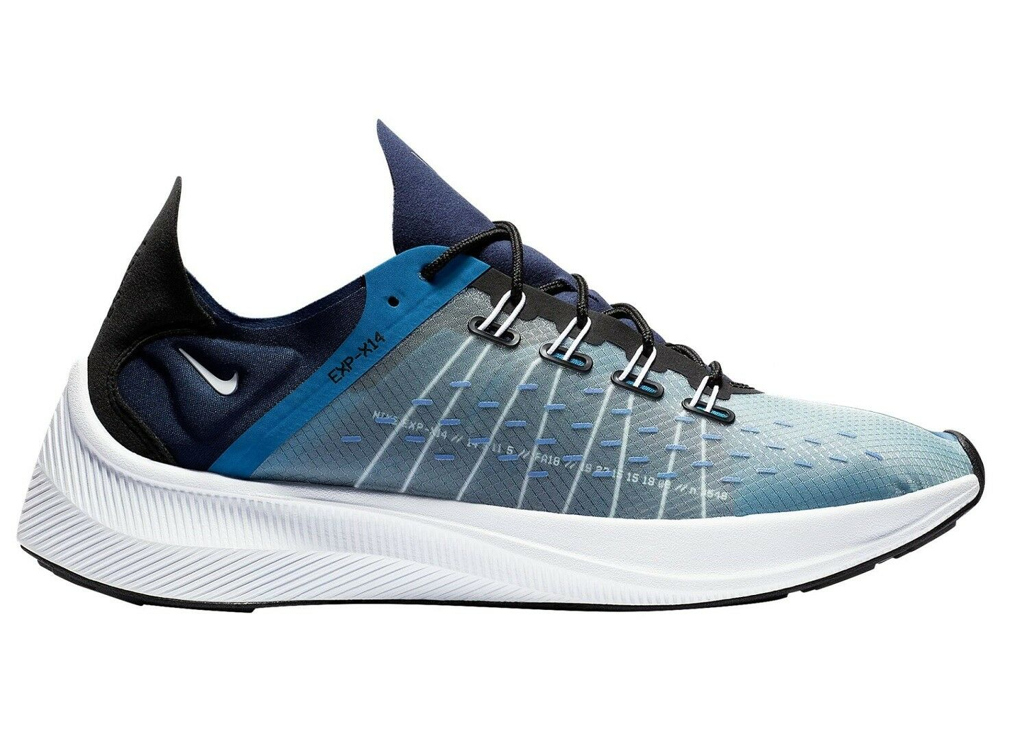 Nike EXP X14 Mens AO1554-401 Mountain Blue Navy Athletic Running Shoes Size 9.5