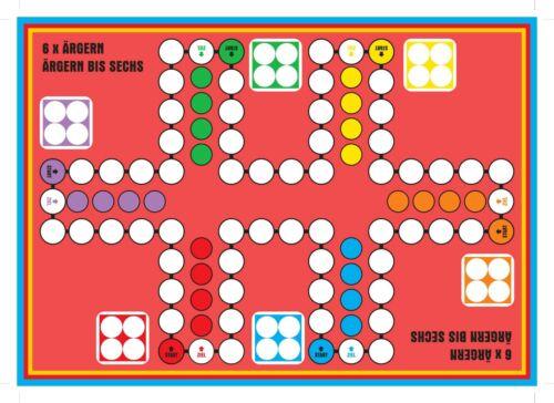 Sparpreis Ludo magnetisch für bis zu 6 und 8 Personen doppelseitiger Spielplan