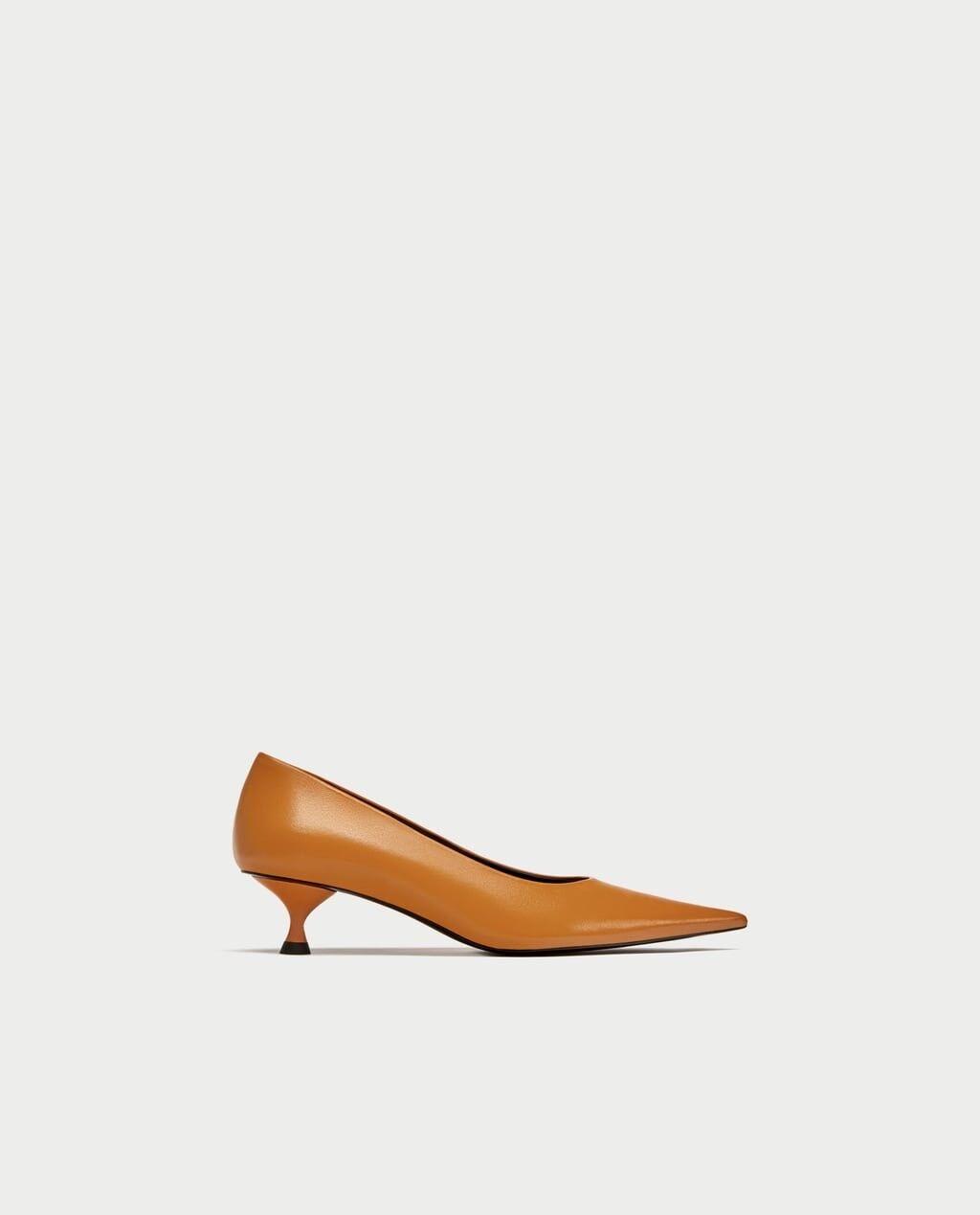 Zara nuevo FW17 Cuero señaló Tribunal Zapatos Talla Talla Talla 6.5 EUR 37 Nuevo con etiquetas  diseño único