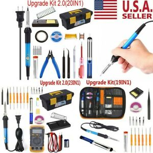 Electric-Soldering-Iron-Gun-Tool-Kit-60W-Welding-Desoldering-Pump-Tool-Set-110V