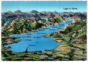 Ak Gardasee Lago Di Garda Landkarte Panoramakarte