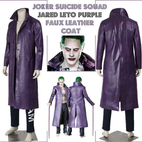 viola Cappotto Joker Halloween Suicide Texture Leto coccodrillo Jared Squad Speciale 11vqIZw0