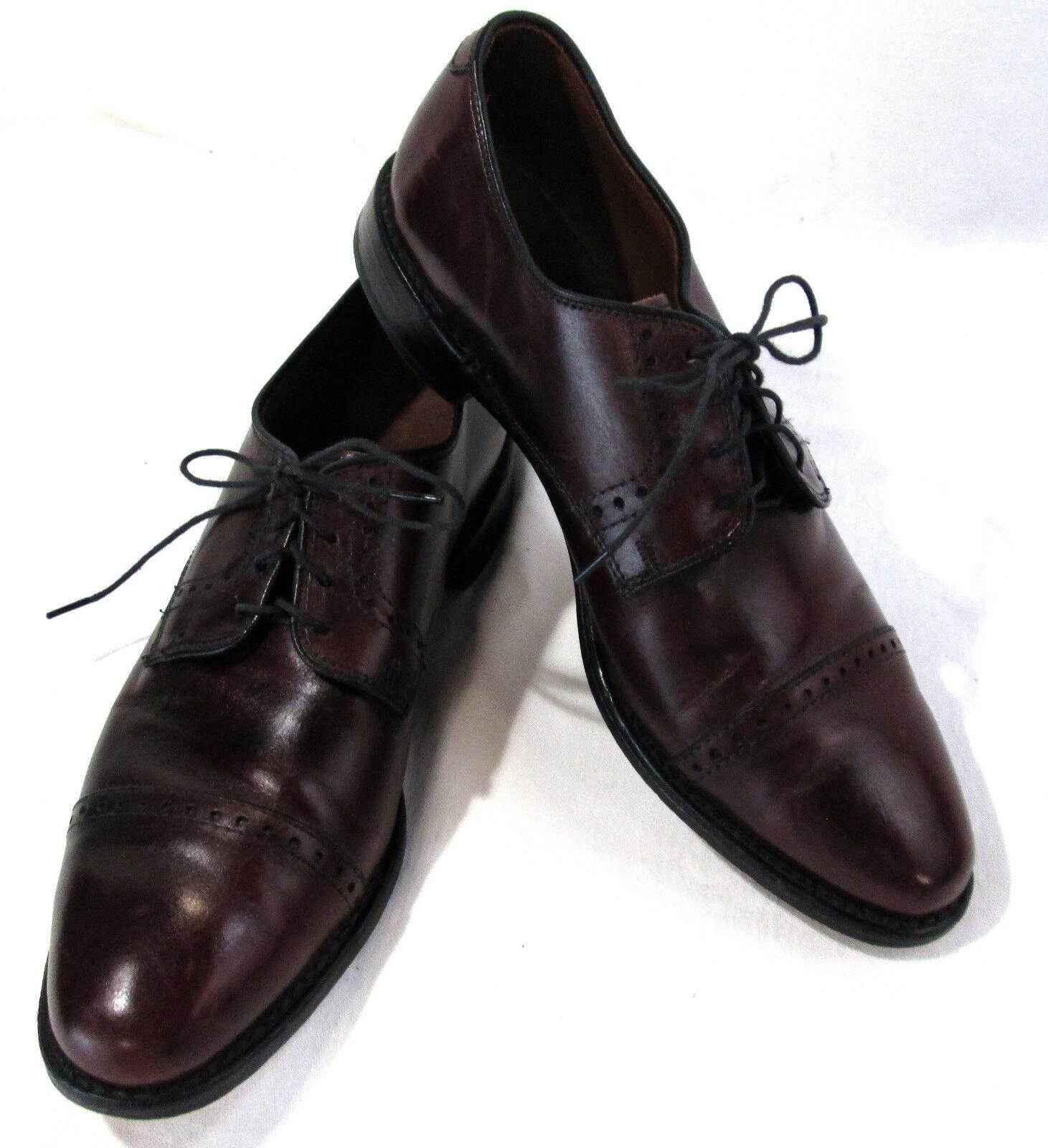 Allen Edmonds Men's Leather Oxford Dress shoes, Cordovan US Size 8, EU Size 41