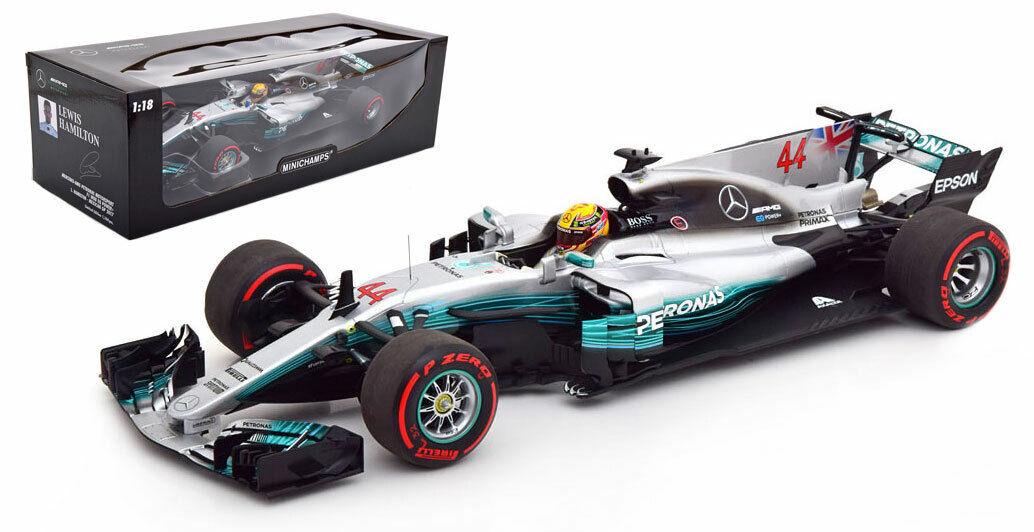 Minichamps Mercedes W08 Mexican GP World Champion 2017-Lewis Hamilton 1 18