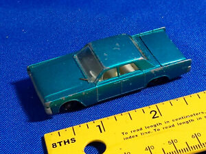 Lesney-England-Matchbox-31-LINCOLN-CONTINENTAL-Car-Metallic-Blue-Diecast-VTG-Toy