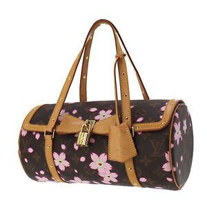 Louis-Vuitton-Cherry-Blossom-Papillon-Hand-Bag-Monogram-Canvas-M92009-Auth-PP27