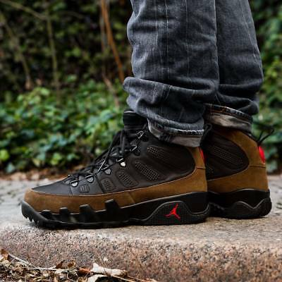 low priced 0f2de ab590 Air Jordan 9 IX Retro NRG Boots size 8. Olive Black Red. AR4491-012. | eBay