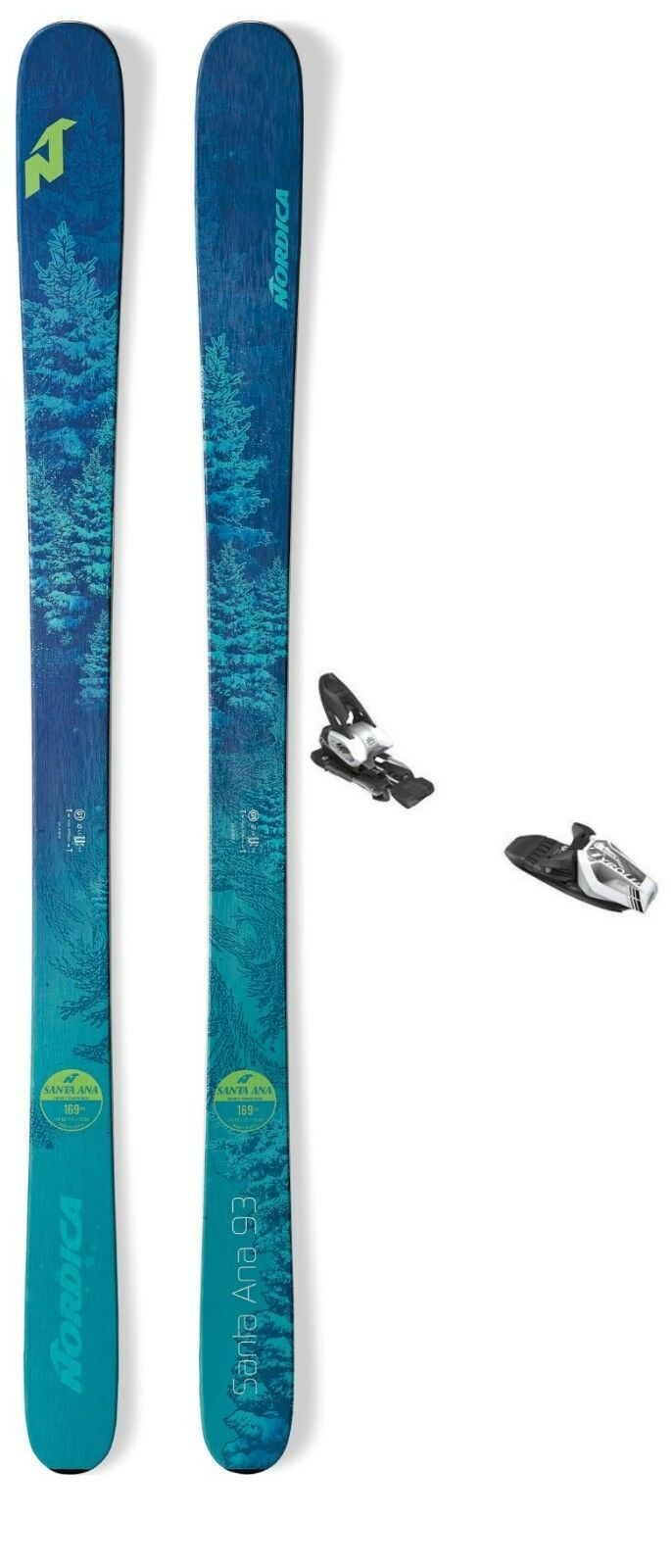 NEW 2019 Nordica Santa Ana 93 ladies snow skis w-bindings (CHOOSE YOUR SIZE)