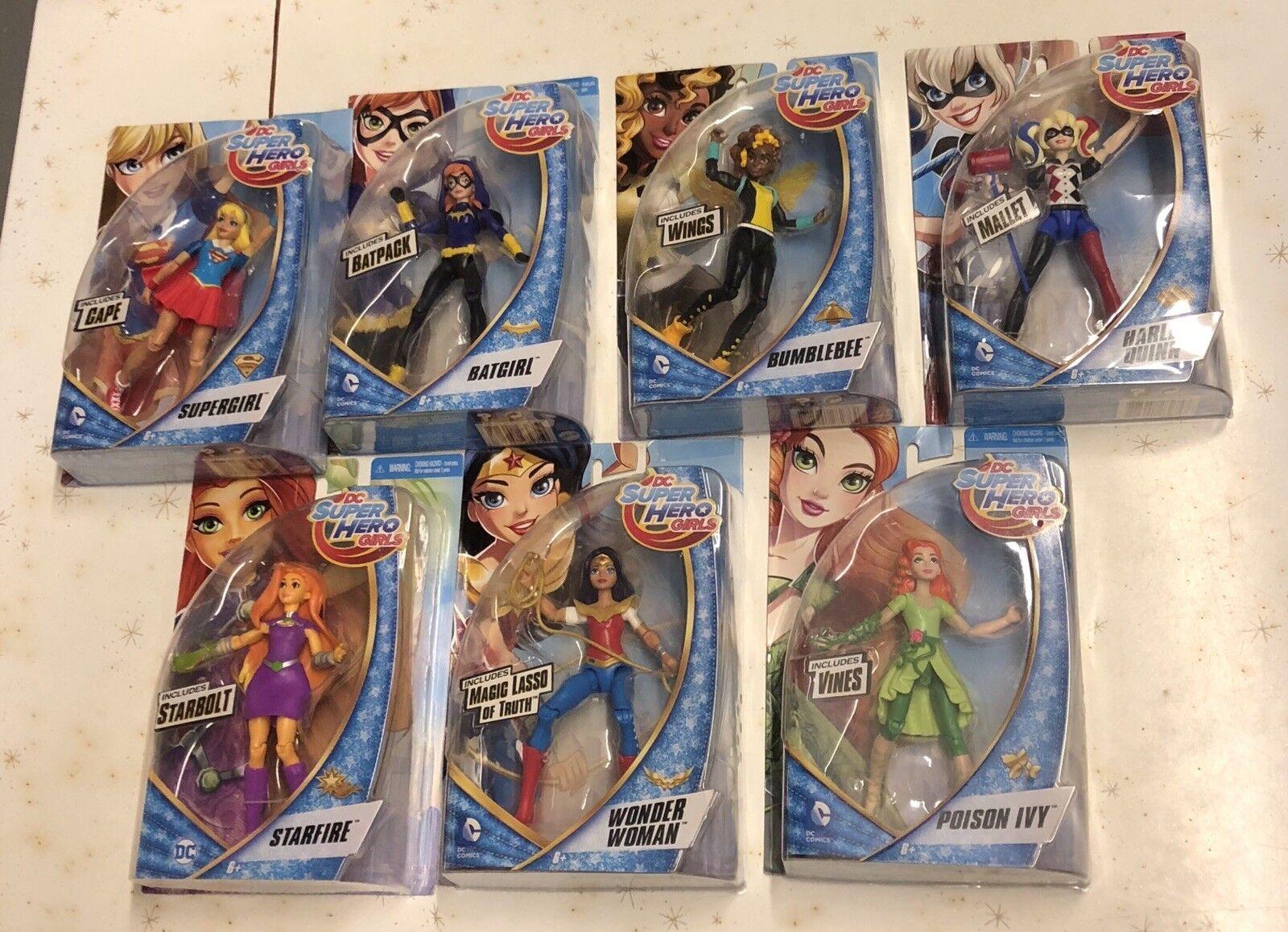 DC Supereroe GIRLS LOTTO DI 8 la Batgirl di, Harley, Wonder donna, Supergirl, Katana NUOVO IN SCATOLA