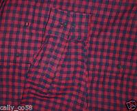 Casa Moda Men's Red Navy Plaid Button Casual Dress Shirt Collar Pocket L $98