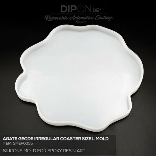 "Epoxidharz Silikonform /""GEODE IRREGULAR COASTER L/"" Gießform Epoxy Resin Art Mold"