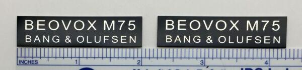 Beovox M75 Speaker Badge Logo Custom Made Bang & Olufsen S75 B&o Verkwikkende Bloedcirculatie En Stoppen Van Pijn