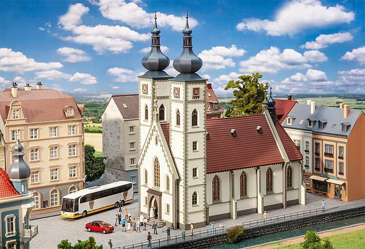 entrega de rayos Faller H0 130629 - Ciudad Iglesia Iglesia Iglesia Kit Construcción Producto Nuevo  alta calidad