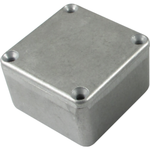 "Chassis Box, Hammond, 1590LB, Diecast, 1.99"" x 1.99"" x 1.06"", Color: Aluminum"