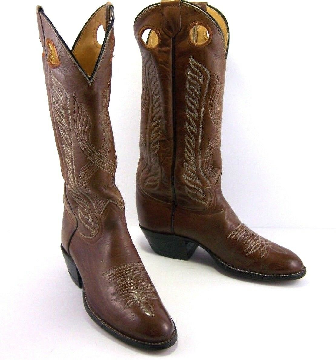 Tony Lama  Cowboy Boots Western Mens 6445 Size 8 B Brown Leather 14  Shaft  wholesale
