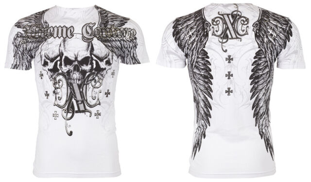 Xtreme Couture AFFLICTION Mens T-Shirt OVER THE TOP Tattoo Biker UFC M-4XL $40