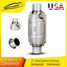 2 Catalytic Converter High Flow Universal Exhaust With O2 Sensor Port 53004