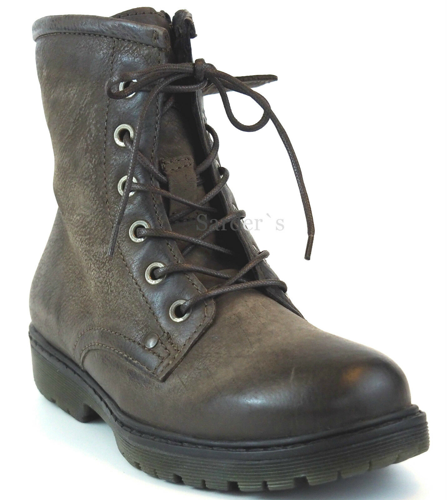 Mjus  botín 38 cuero Taupe Antik invierno botas botas cordero nuevo
