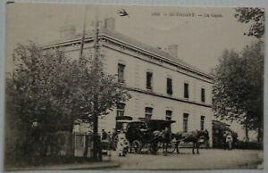 Guerigny-58-Cartolina-la-Gare-con-Carrozza-Bon-Stato-Animata